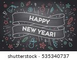 greeting card with trendy...   Shutterstock .eps vector #535340737