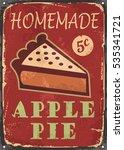 apple pie old poster design... | Shutterstock .eps vector #535341721