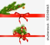 christmas decorative elements... | Shutterstock . vector #535348465