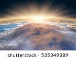 planet earth with a spectacular ... | Shutterstock . vector #535349389