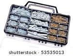 closeup of metal screws. can be ...   Shutterstock . vector #53535013