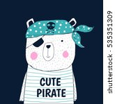 Cute Pirate Design.t Shirt...