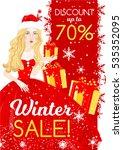 winter sale  christmas sale ... | Shutterstock .eps vector #535352095