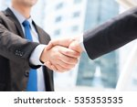 businessmen making handshake  ... | Shutterstock . vector #535353535