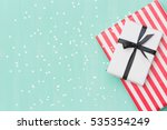 top view on christmas gifts... | Shutterstock . vector #535354249