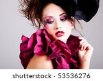 a young woman dressed in avant... | Shutterstock . vector #53536276