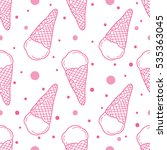 vector seamless pattern with... | Shutterstock .eps vector #535363045
