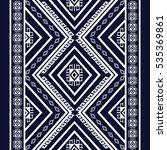 geometric ethnic pattern... | Shutterstock .eps vector #535369861