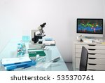 microscopic work station.... | Shutterstock . vector #535370761