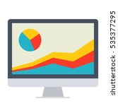 monitor with chart concept for... | Shutterstock .eps vector #535377295