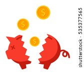 financial crisis concept with... | Shutterstock .eps vector #535377565