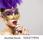 beautiful woman with dramatic...   Shutterstock . vector #535377994