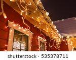 unusual christmas wreath on...   Shutterstock . vector #535378711