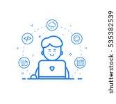 vector illustration of blue... | Shutterstock .eps vector #535382539