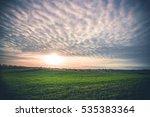 rural landscape with green...   Shutterstock . vector #535383364