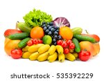 collection fresh fruits and... | Shutterstock . vector #535392229
