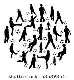 football shape made of... | Shutterstock .eps vector #53539351