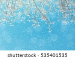 winter background   frosty... | Shutterstock . vector #535401535