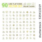 vector graphic set of icons in... | Shutterstock .eps vector #535413319