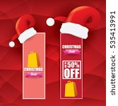 vector christmas sales tag or... | Shutterstock .eps vector #535413991