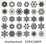 set of ornate lacy doodle... | Shutterstock .eps vector #535414849