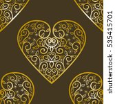 seamless pattern with hearts... | Shutterstock .eps vector #535415701