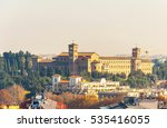 Small photo of Sant' Anselmo - a benedictine abbey and university on the Aventine hill, in Rome, Italy
