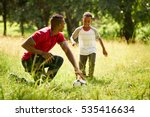 happy black people doing sport... | Shutterstock . vector #535416634