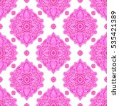 seamless pattern with abstract... | Shutterstock . vector #535421389