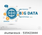big data and marketing concept. ... | Shutterstock .eps vector #535423444