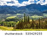 panoramic vista of mountains... | Shutterstock . vector #535429255