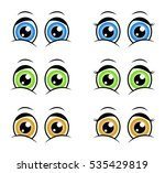 cartoon eyes  expression vector ... | Shutterstock .eps vector #535429819