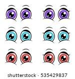 cartoon eyes  expression vector ...   Shutterstock .eps vector #535429837
