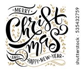 merry christmas and happy new... | Shutterstock .eps vector #535432759