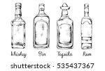 alcohol set  whiskey  gin ... | Shutterstock .eps vector #535437367