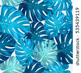 seamless pattern of leaves... | Shutterstock .eps vector #535439119