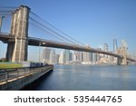 manhattan skyline with brooklyn ... | Shutterstock . vector #535444765