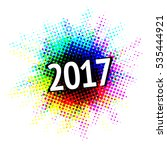 2017 sign with colorful... | Shutterstock .eps vector #535444921