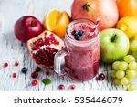 berry smoothie  healthy juicy... | Shutterstock . vector #535446079