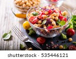 healthy homemade chickpea and... | Shutterstock . vector #535446121