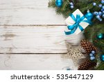 christmas background. fir tree... | Shutterstock . vector #535447129