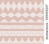 set of white borders isolated... | Shutterstock . vector #535455247