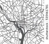 black   white vector map of... | Shutterstock .eps vector #535461781