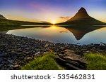 iceland sunset | Shutterstock . vector #535462831