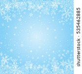 Snowflakes Blue Radial...