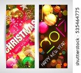 christmas. banners. | Shutterstock .eps vector #535464775