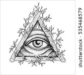 eye of providence. masonic... | Shutterstock .eps vector #535468579
