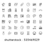 office thin line related icons...