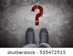 question mark stencil print on... | Shutterstock . vector #535472515