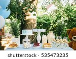 sweets and cake on the table... | Shutterstock . vector #535473235